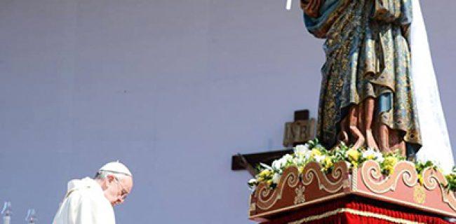 Cinque anni fa Francesco pellegrino a Bonaria