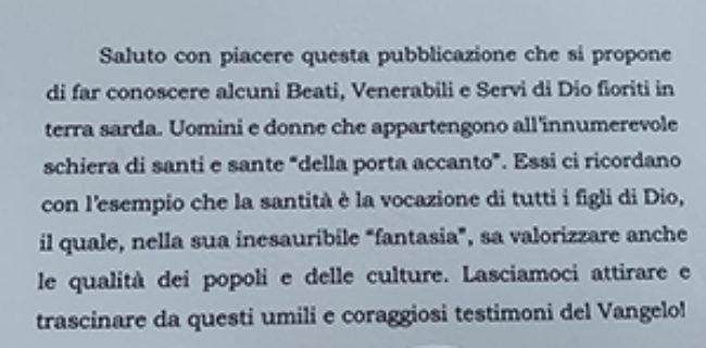 Lettera di Papa Francesco a monsignor Baturi